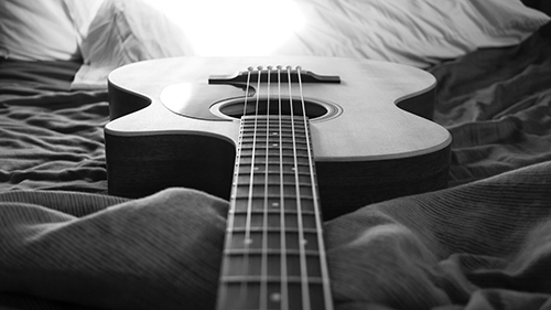 black and white guitar wallpaper