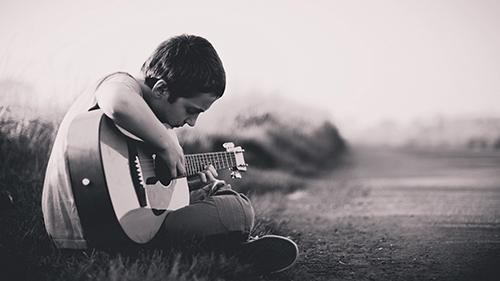 boy guitar wallpaper