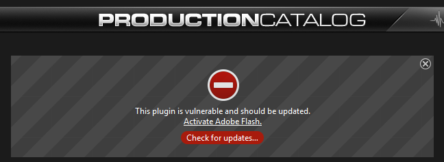 stop using flash player