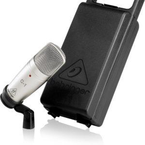 behringer c1 condenser microphone case view