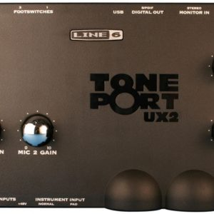 line 6 ux2 audio interface top