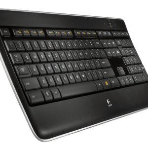 logitech k800 wireless illuminated keyboard angle